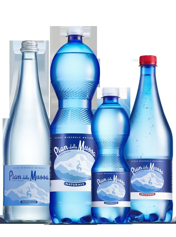 bottiglie acqua pian della mussa
